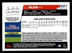 2006 Topps #321   -  C.J. Wilson Rookie Card Back Thumbnail