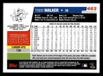 2006 Topps #463  Todd Walker  Back Thumbnail
