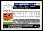2006 Topps #444  Curtis Granderson  Back Thumbnail