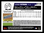 2006 Topps #418  Johnny Estrada  Back Thumbnail