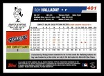 2006 Topps #401  Roy Halladay  Back Thumbnail