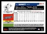 2006 Topps #411  A.J. Burnett  Back Thumbnail