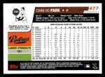 2006 Topps #477  Chan Ho Park  Back Thumbnail