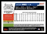 2006 Topps #447  Jacque Jones  Back Thumbnail