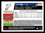 2006 Topps #484  Aaron Hill  Back Thumbnail