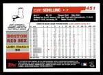 2006 Topps #451  Curt Schilling  Back Thumbnail