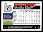 2006 Topps #412  David Bell  Back Thumbnail