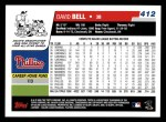 2006 Topps #412  David Bell  Back Thumbnail