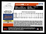 2006 Topps #473  Jason Lane  Back Thumbnail