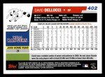 2006 Topps #402  David Dellucci  Back Thumbnail