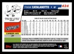 2006 Topps #434  Frank Catalanotto  Back Thumbnail
