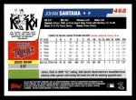 2006 Topps #468  Johan Santana  Back Thumbnail
