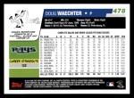 2006 Topps #478  Doug Waechter  Back Thumbnail