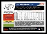 2006 Topps #452  Jake Westbrook  Back Thumbnail