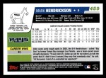 2006 Topps #459  Mark Hendrickson  Back Thumbnail