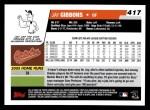 2006 Topps #417  Jay Gibbons  Back Thumbnail