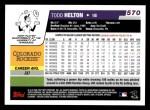 2006 Topps #570  Todd Helton  Back Thumbnail