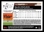 2006 Topps #534  Tim Stauffer  Back Thumbnail