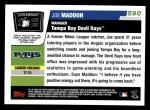2006 Topps #590  Joe Maddon  Back Thumbnail