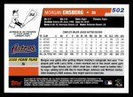 2006 Topps #502  Morgan Ensberg  Back Thumbnail