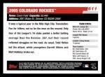 2006 Topps #611   Colorado Rockies Team Back Thumbnail