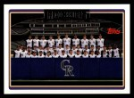 2006 Topps #611   Colorado Rockies Team Front Thumbnail