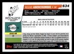 2006 Topps #634   -  Reggie Abercrombie Rookie Card Back Thumbnail