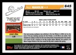 2006 Topps #645   -  Paul Maholm Rookie Card Back Thumbnail
