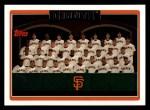 2006 Topps #613   San Francisco Giants Team Front Thumbnail