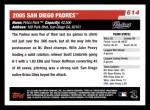 2006 Topps #614   San Diego Padres Team Back Thumbnail