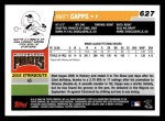 2006 Topps #627   -  Matt Capps Rookie Card Back Thumbnail