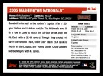 2006 Topps #604   Washington Nationals Team Back Thumbnail