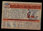 1957 Topps #320  Neil Chrisley  Back Thumbnail