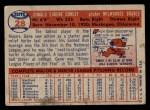 1957 Topps #28  Gene Conley  Back Thumbnail