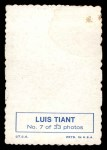 1969 Topps Deckle Edge #7  Luis Tiant     Back Thumbnail