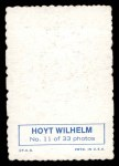 1969 Topps Deckle Edge #11 WIL Hoyt Wilhelm  Back Thumbnail