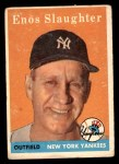 1958 Topps #142  Enos Slaughter  Front Thumbnail