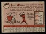 1958 Topps #471  Lenny Green  Back Thumbnail