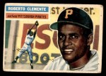 1956 Topps #33  Roberto Clemente  Front Thumbnail