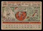 1956 Topps #109 GRY Enos Slaughter  Back Thumbnail