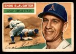 1956 Topps #109 GRY Enos Slaughter  Front Thumbnail