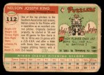 1955 Topps #112  Nelson King  Back Thumbnail