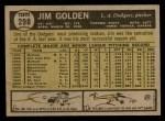 1961 Topps #298  Jim Golden  Back Thumbnail