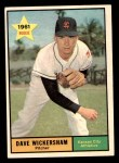 1961 Topps #381  Dave Wickersham  Front Thumbnail