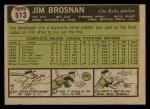 1961 Topps #513  Jim Brosnan  Back Thumbnail