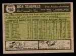 1961 Topps #453  Dick Schofield  Back Thumbnail