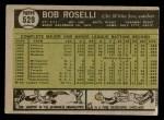 1961 Topps #529  Bob Roselli  Back Thumbnail