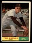 1961 Topps #434  Tom Brewer  Front Thumbnail