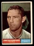 1961 Topps #55  Jim Davenport  Front Thumbnail