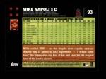 2007 Topps #93  Mike Napoli  Back Thumbnail